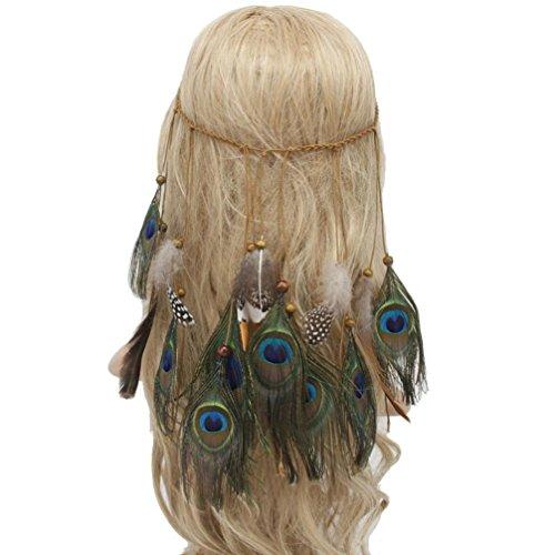 Sothread Women Bohemian Feather Headband Hippie Headdress Hair Accessories (Muiltcolor). ()