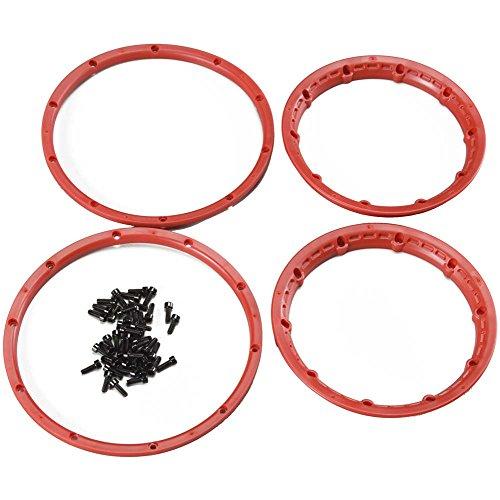 HPI Racing 3275 H/D Wheel Beadlock Rings (2-Piece), Red