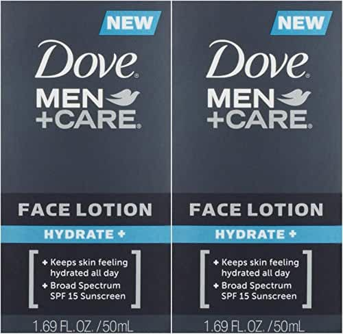 Dove Men + Care Face Lotion Hydrate, 2 Count