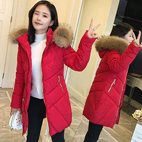 Rosso Piumini ~ Per 7 Cappotti Corta Plus Burfly Slim Casual Donna Donna 3xl Giacche Solid Piumino Size Fit Capispalla Capispalla Caldo S Inverno Moda 5pxqnBR