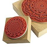 YazyCraft Decorative Wooden Stamps - 2 pcs