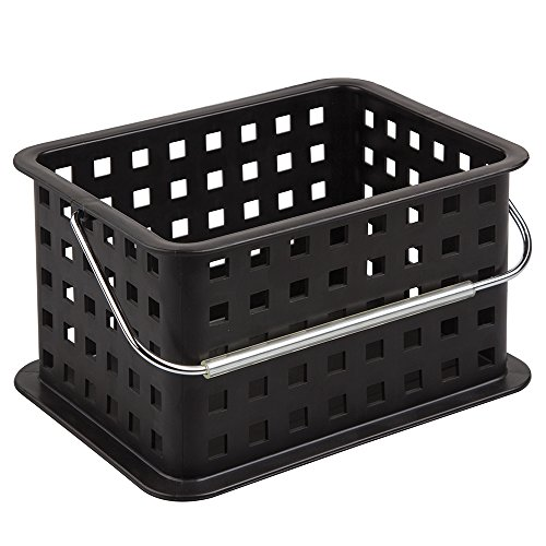 InterDesign Small Basket, Black Provides Basic Storage For Items