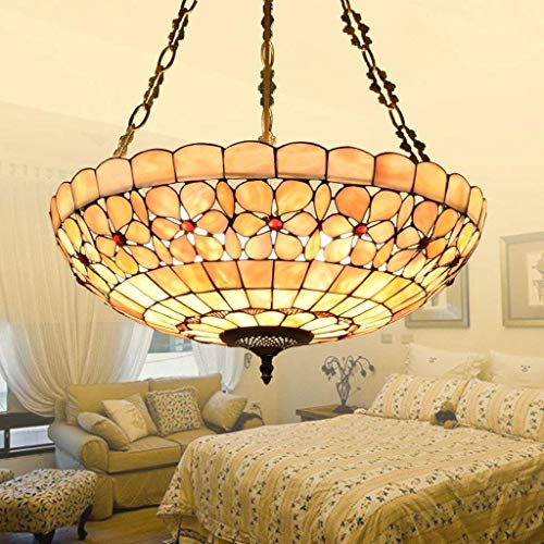 - Oudan Garrestaurant House of European Style Study Tiffany Chandeliers Anti Artistic Creativity Flower Mother-of-Pearl Room Lighting. (Color : -, Size : -)