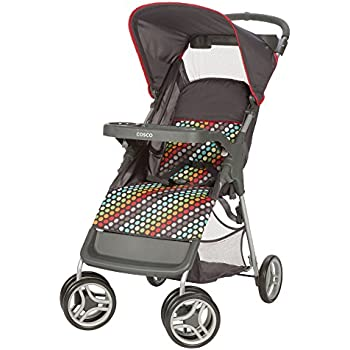 Cosco Lift and Stroll Convenience Stroller Rainbow Dots  sc 1 st  Amazon.com & Amazon.com : Cosco Lift and Stroll Convenience Stroller Rainbow ...