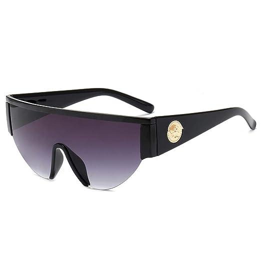 Yangjing-hl Gafas de Sol siamesas Gafas de Sol de Media ...