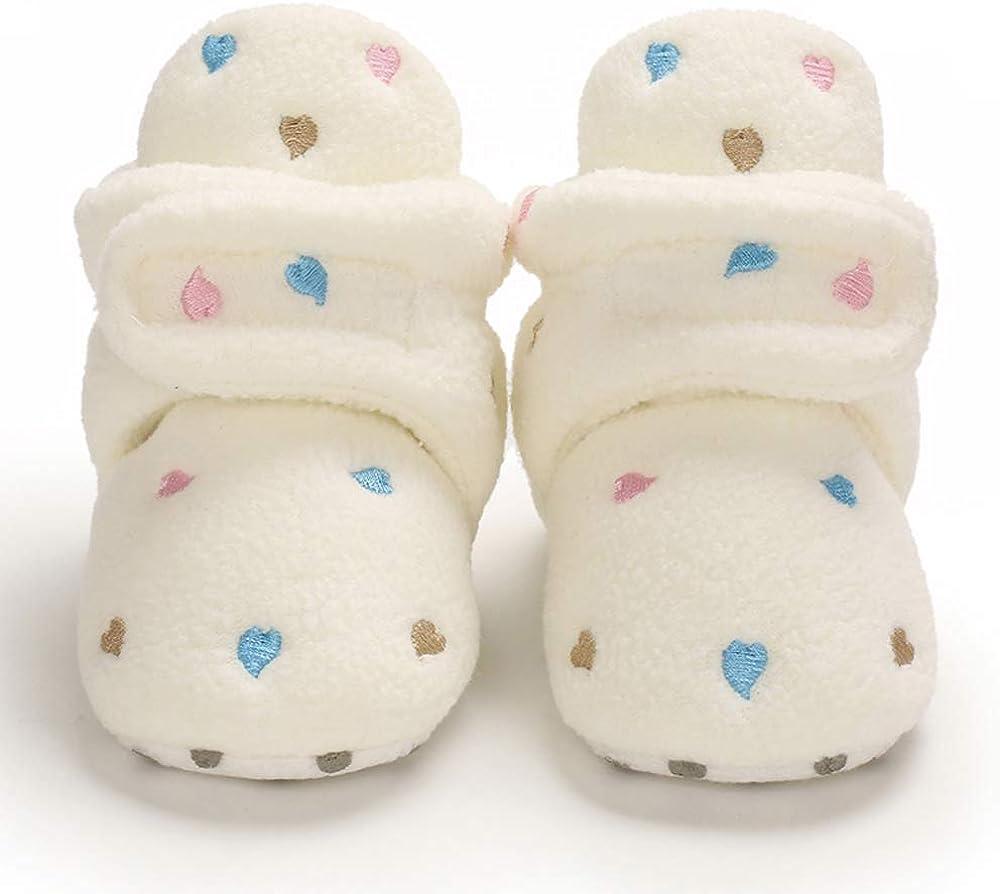 MASOCIO Baby Boys Girls Soft Sole Warm Booties Newborn Infant Anti-Slip Pram Crib Prewalker Boots