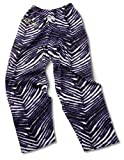 zubaz pants purple - Baltimore Ravens ZUBAZ Purple Black White Vintage Style Zebra Pants (2XL)