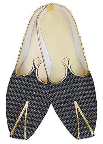 INMONARCH Mens Dark Navy Jute Wedding Shoes MJ013920 nwMnTHM