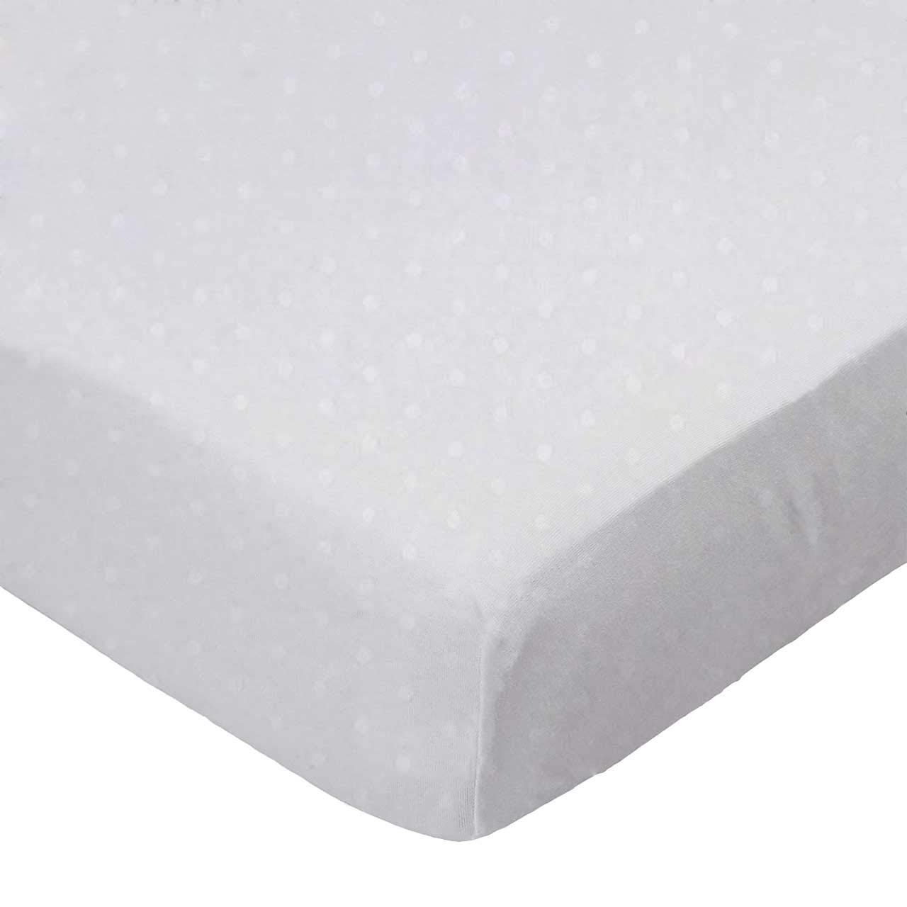 SheetWorld Fitted Pack N Play (Graco Square Playard) Sheet - White Swiss Dot Jersey Knit - Made In USA by sheetworld   B002SUZQ2W