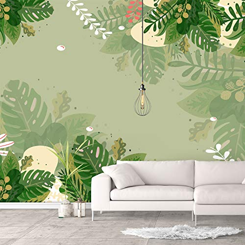 NWT Wall Murals for Bedroom Green Plants Animals Removable Wallpaper Peel and Stick Wall Stickers - 100x144 inches