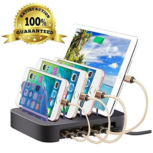 multi phone charging station. 4 Port Charging Station Cell Phone Hub Charger Dock Organizer Quick Charge Multi Desktop For Multiple Devices Iphone L