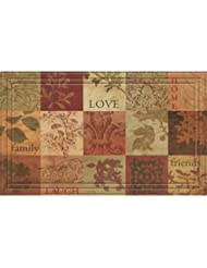Nice Apache Mills Naturells Patchwork Squares Mat 18 In. X 30 In.