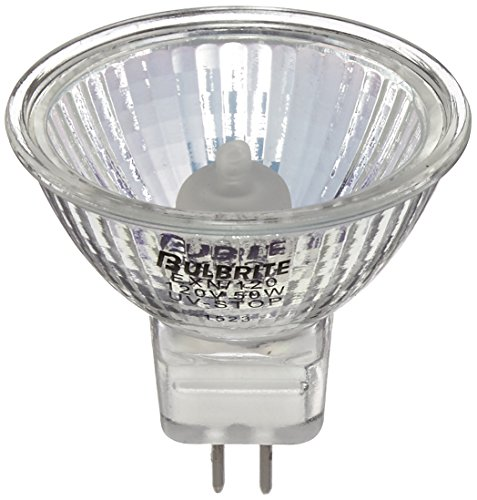 Bulbrite EXN/120 50-Watt 120-Volt Halogen MR16 Bi-Pin Lensed, (50 Watt Bi Pin)
