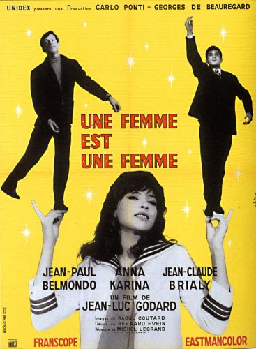 A Woman Is a Woman Poster Movie French 11x17 Jean-Claude Brialy Anna Karina Jean-Paul Belmondo