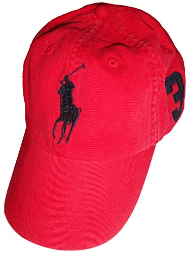 Polo Ralph Lauren Men Big Pony Logo Hat (Red / Navy Pony)
