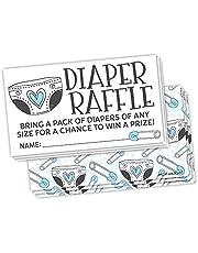 50 Cute Blue Diaper Doodle - Boy Diaper Raffle Tickets - Baby Shower Game