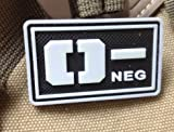 o positive pvc patch - GLOWING Military Blood Type O- Positive Tactical Army 3D PVC Velcro Patch