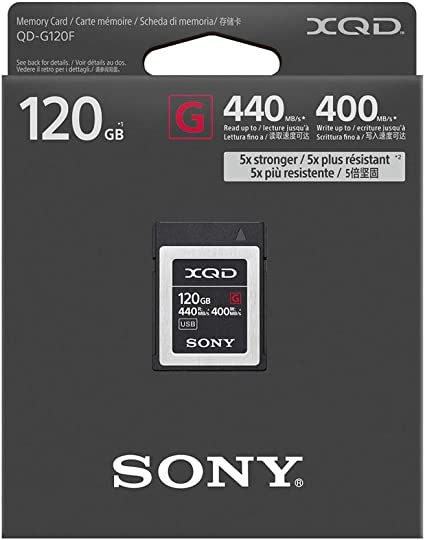 120GB Sony XQD G Serie QD-G120G Tarjeta de memoria
