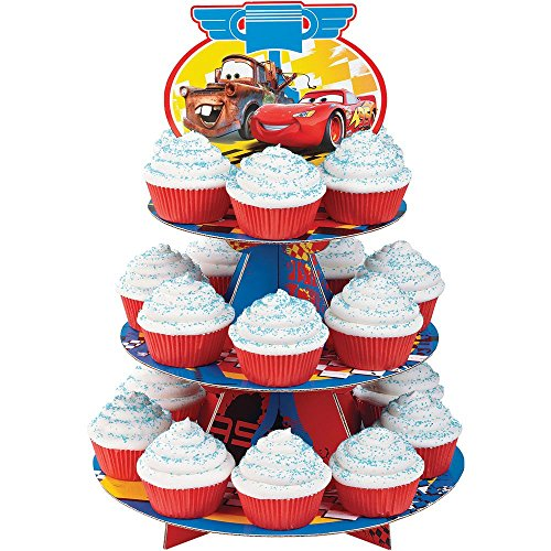 [Treat Stand-Cars 12x16.25 Holds 24 Cupcakes] (Car Costume Cardboard Box)