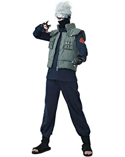 Miccostumes Mens Full Set For Kakashi Hatake Cosplay Costume