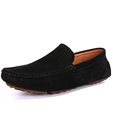 1cf64a6ac0792 UNN Mens Loafers Casual Boat Shoes Genuine Leather Slip On Driving Moccasins  Hollow Out Breathable Flats
