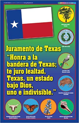 picture relating to Pledge of Allegiance in Spanish Printable referred to as Texas Pledge Poster - Spanish Variation (Texas Practical experience