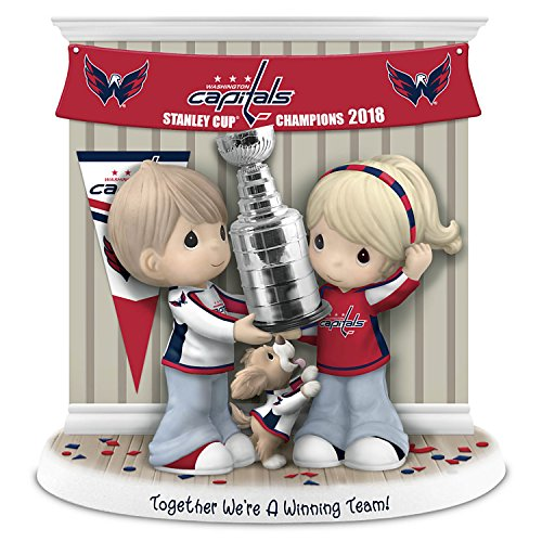 The Hamilton Collection Precious Moments Together We're A Winning Team Washington Capitals NHL Figurine