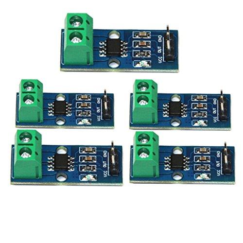 Homyl 5 Pieces 30A Range Hall Current Sensor Module Board ACS712 Module with 3 Pin for Arduino by Homyl