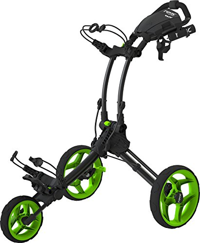 Rovic Unisex's RV1C Compact Golf Trolley, Charcoal/Lime, One Size