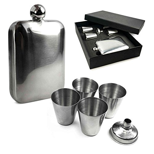 AKORD 5 pcs Stainless Steel Funnel for All Kind of Hip Flasks
