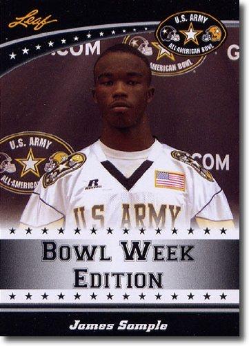 2011 Leaf US Army All-American Bowl Week Edition Prospect Card # West-48 James Sample DB - WASHINGTON / Grant High School (First Football Trading Card / Rookie Card)