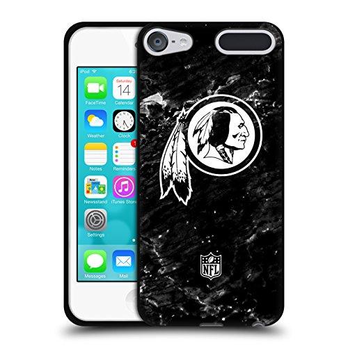 Official NFL Marble 2017/18 Washington Redskins Black Soft Gel Case for Apple iPod Touch 6G 6th (Ipod Redskin)