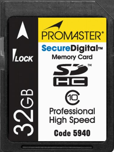 Speed Secure Digital Memory Card - Promaster - 32GB - SDHC High Speed Secure Digital Memory Card - Class 10