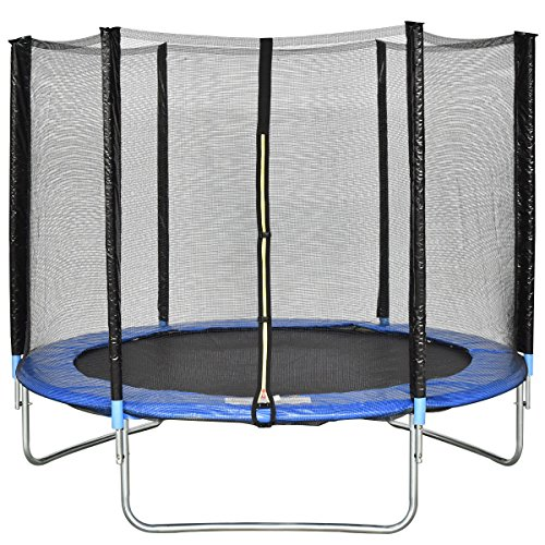 Giantex Trampoline Combo Bounce Jump Safety Enclosure Net W/Spring Pad Ladder (8 FT) For Sale