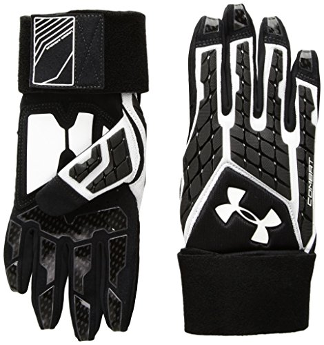 Under Armour Boys Youth Combat V Football Gloves, White (100)/White, Youth Medium