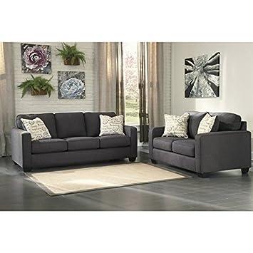 Amazon.com: Ashley Alenya 2 Piece Sofa Set in Charcoal ...
