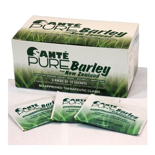 10 Boxes of Sante Pure Barley New Zealand Blend with Stevia - Large Box 30 Sachets Total 90 Grams