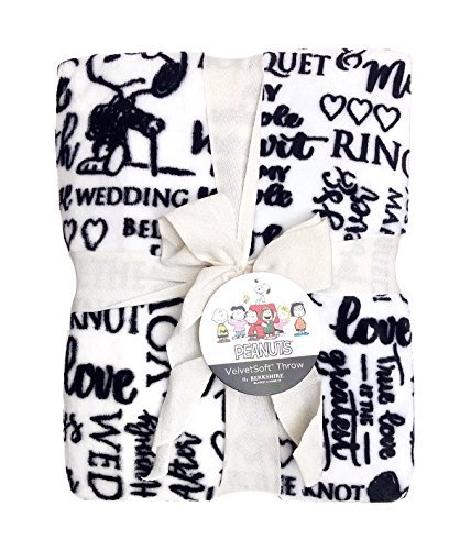 Berkshire Blanket Snoopy Wedding Words, Oversized Throw, 55