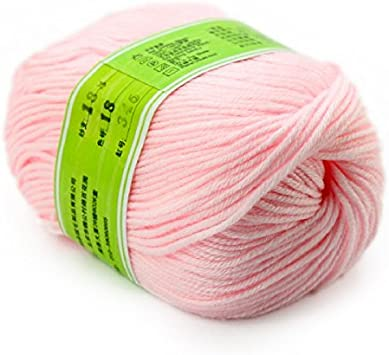 Ovillo de lana de 50 g de hilo de bambú para tejer a mano, color blanco y marrón, paquete de coral, algodón neutro, fibra de borgoña multicolor: Amazon.es: Bricolaje y herramientas