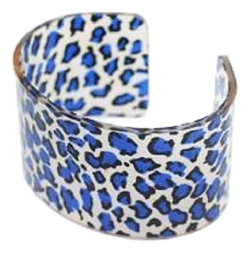 Blue Leopard Print Fashion Cuff Bangle