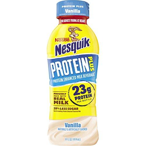 Nesquik Protein Plus Vanilla Flavored Low Fat Milk, 14 fl oz by Nesquik
