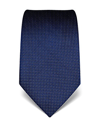Vincenzo Boretti Men's silk tie polka dot pattern dark blue by Vincenzo Boretti (Image #1)