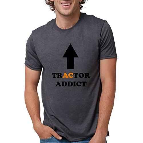 CafePress - Tractor Addict AC White T-Shirt - Mens Tri-blend T-Shirt -