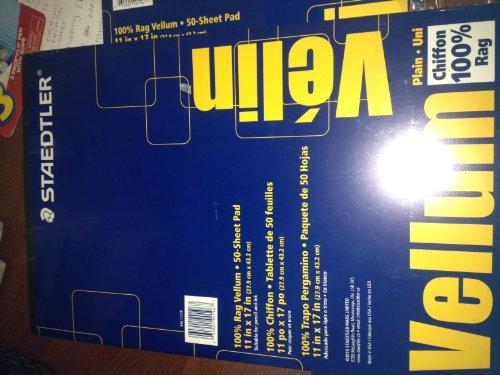 Staedtler 9461117P Mars All-Purpose Translucent Vellum, 11 x 17, 50-Sheet Pad