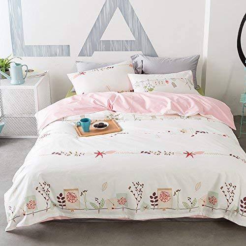 完全な枕カバー寝具セット ベッドA 4枚のシンプルな女の子の心のシングル3枚の綿のキルトのシーツ寝具 (色 : 2.0m (6.6 Feet) Bed, サイズ : Flower) B07QQSH8W6 2.0m (6.6 Feet) Bed A happy flower A happy flower|2.0m (6.6 Feet) Bed