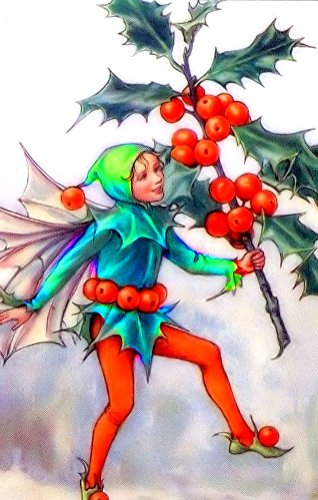 "Counted Cross Stitch Pattern: ""The Holly Fairy"" by Cicely Mary Barker: Flower Fairies (The Flower Fairy Series)"