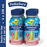 PediaSure Complete, nutritional supplement, 4 x 235 mL, Strawberry