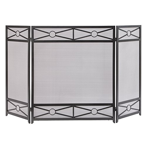 Pleasant Hearth FA146S Sheffield Fireplace Screen, Vintage Iron