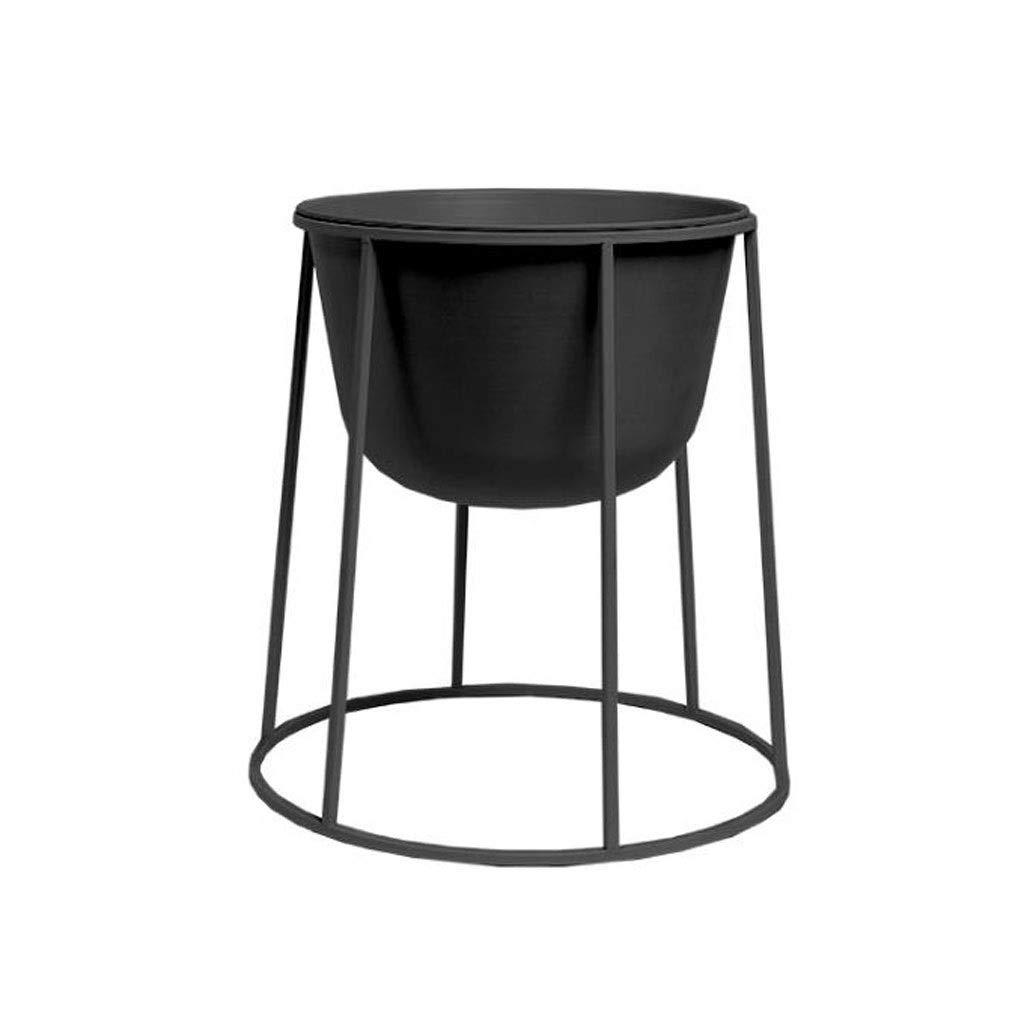 LYN Scaffale per Piante, Espositore per vasi in Ceramica in Stile Nordico e Supporto per espositore rossoondo in Ferro (Dimensioni   S.)