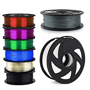 TongLingUSL 3D Printer Filament 1.75mm 1KG PLA ABS Nylon Wood TPU PETG Carbon ASA PC 3D Plastic Printing Filament (Color : Free, Size : ABS) 6